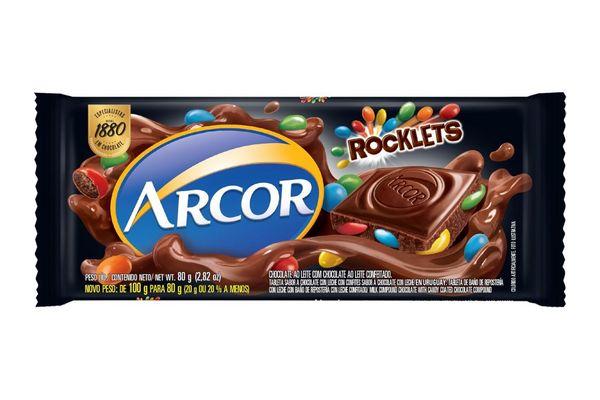 Chocolate con Rocklets ARCOR   80g en Tienda Inglesa