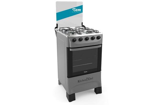 Cocina TEM Kitchen Chef 4 Hornallas  ¡Envío Gratis! en Tienda Inglesa