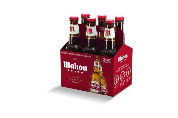 Cerveza MAHOU 5 Estrellas Botella 330 ml Pack x 6 Unidades en Tienda Inglesa