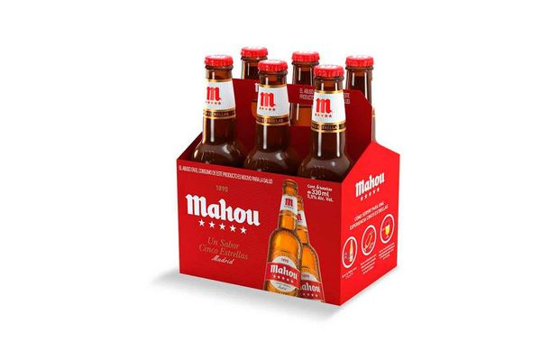 Cerveza MAHOU 5 Estrellas Botella  330 ml en Tienda Inglesa