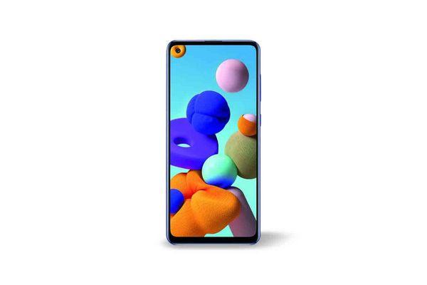 Celular SAMSUNG Galaxy A21s 128 gb Color Azul en Tienda Inglesa