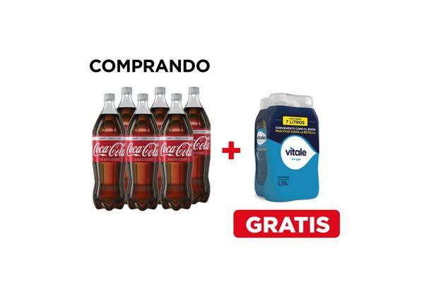 Combo COCA-COLA Light 1.5 L + Pack VITALE sin Gas en Tienda Inglesa