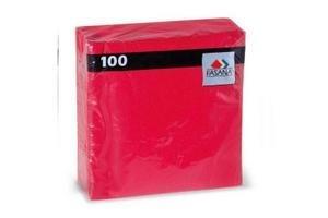 Servilleta de Papel FASANA Lisa Roja x100u en Tienda Inglesa