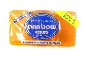 Jabón de Tocador ANN BOW con Glicerina Oferta con 3 Unidades 360 gr en Tienda Inglesa