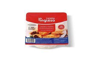 Masa para Empanadas para Horno Hojaldradas TIENDA INGLESA X 20 Unidades 550 gr en Tienda Inglesa