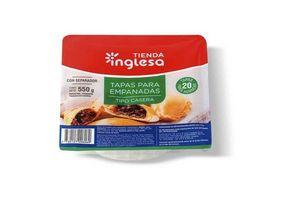 Masa para Empanadas para Horno Tipo Casera TIENDA INGLESA  x 20 Unidades 550 gr en Tienda Inglesa