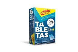 Tableta para Mosquitos JUPITER x 24 Unidades + 6 en Tienda Inglesa