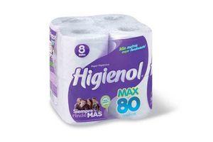 Papel Higiénico HIGIENOL Max Plus 8 Unidades 80 Metros en Tienda Inglesa