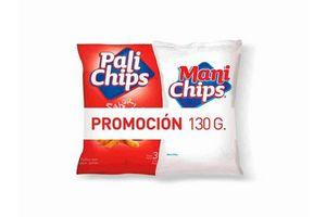 Pack Pali CHIPS Jamón 70 gr + Maní CHIPS sin Piel 60 gr en Tienda Inglesa