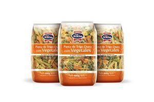 Fideos con Vegetales Tirabuzón  LAS ACACIAS 500g en Tienda Inglesa