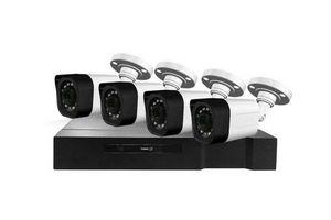 Kit de Seguridad KOLKE FullHD XVR 8 Canales 1080p + 4 Cámaras 2.0MP IP66 + Accesorios en Tienda Inglesa