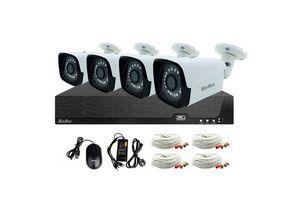 Kit de Cámaras de Seguridad KOLKE + 4 Cámaras Bullet + XVR de 8 canales + Accesorios en Tienda Inglesa