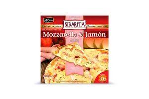 Pizza a la Piedra con Muzzarella y Jamón Cocido SIN CONSERVANTES SIBARITA x2 1060Kg ¡Rinde 16 Porciones! en Tienda Inglesa