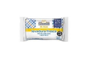 Levadura Fresca en Pastilla FLEISCHMANN 60 gr en Tienda Inglesa