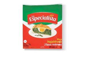 Masa para Pascualina Redonda Hojaldrada LA ESPECIALISTA  350g en Tienda Inglesa