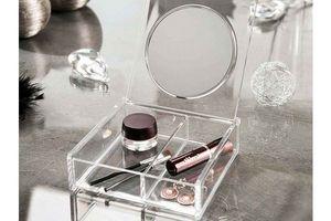 Organizador con Espejo Cosmetico 15 x 15 x 5 cm en Tienda Inglesa