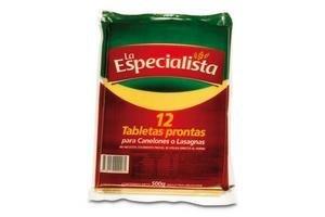 Tabletas para Lasagna LA ESPECIALISTA 500gr en Tienda Inglesa