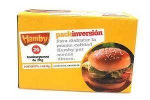 Hamburguesas HAMBY Pack Inversión x 24 Unidades 1,68Kg en Tienda Inglesa