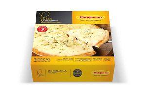 Pizza a la Piedra con Muzzarella para Microondas Lista en 3 minutos PANGIORNO x3 600g ¡También para Horno o Parrilla! en Tienda Inglesa