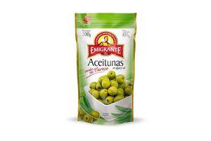 Aceitunas Verdes EMIGRANTE sin Carozo en Agua y Sal Sachet 200g en Tienda Inglesa