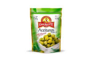 Aceitunas Verdes EMIGRANTE sin Carozo en Agua y Sal Sachet 750g en Tienda Inglesa