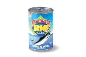 Sardinas RIO DE LA PLATA  Enteras al Natural 425 gr en Tienda Inglesa