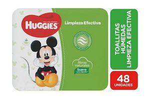 Toallitas Húmedas HUGGIES Limpieza Efectiva x 48 Unidades en Tienda Inglesa