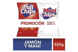 Pack Pali CHIPS + Maní CHIPS 320 gr en Tienda Inglesa