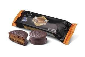 Alfajor Negro de Chocolate Mini Bombón PUNTA BALLENA Pack x6 en Tienda Inglesa