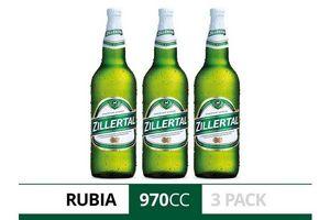 Pack 3 Cervezas ZILLERTAL Botella 970 ml en Tienda Inglesa