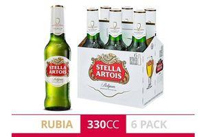 Pack 6 Cervezas STELLA ARTOIS Botella 330ml en Tienda Inglesa