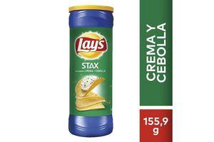 Papas Fritas LAYS STAX sabor Crema y Cebolla 156g en Tienda Inglesa