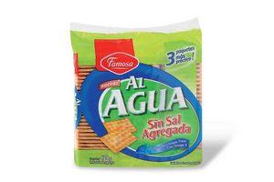 Galletas Al Agua sin Sal FAMOSA 420g en Tienda Inglesa