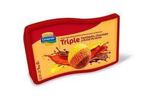 Helado sabor Sambayón, Chocolate y  Dulce de Leche CONAPROLE  Pote 2l en Tienda Inglesa