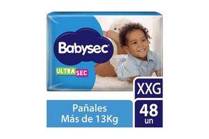 Pañales de Bebé BABYSEC Ultrasec Talle XXG x 48 Pañales en Tienda Inglesa