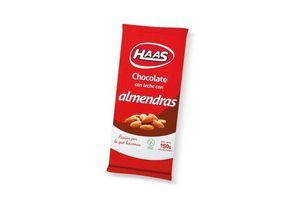 Chocolate con Almendras HAAS 160 gr en Tienda Inglesa