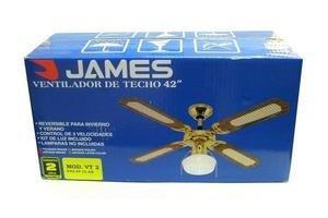 Ventilador de Techo JAMES 3 Velocidades ¡Kit de Luz Incluído! en Tienda Inglesa