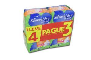 Toallas Femeninas SIEMPRE LIBRE Especial con 8 Unidades Pack 4 x 3 en Tienda Inglesa