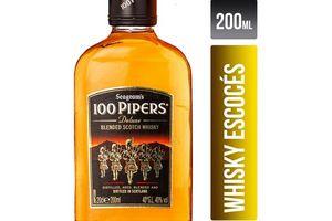 Whisky 100 PIPERS Petaca 200ml en Tienda Inglesa