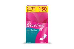 Carefree Sin Perfume Super Pack con 150 Unidades en Tienda Inglesa