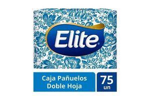 Caja de Pañuelos ELITE Doble Hoja 75 Unidades en Tienda Inglesa