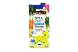 Sopa Pronta Light GOURMET sabor Verduras sin Sal 1l en Tienda Inglesa