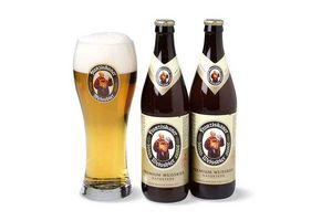 Pack 2 Cervezas FRANZISKANER Botella 500ml  + Vaso en Tienda Inglesa