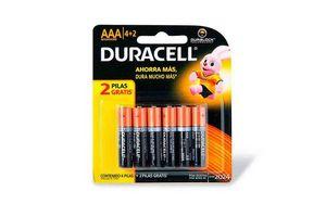 Pila AAA DURACELL Alcalina x 6 Unidades en Tienda Inglesa