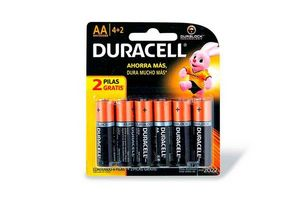 Pilas AA DURACELL Alcalina 6 Unidades en Tienda Inglesa