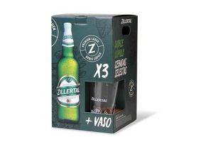 Cerveza ZELLERTAL 0.97lt Pack x 3 Unidades + Copa en Tienda Inglesa