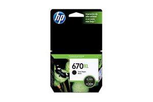 Cartucho HP 670xl  Color Negro 14 ml en Tienda Inglesa