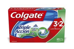 Pack de 3 Cremas Dentales COLGATE Triple Acción 90g c/u en Tienda Inglesa