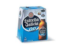 Pack 6 Cervezas ESTRELLA GALICIA 0,0 sin Alcohol Botella 250 ml en Tienda Inglesa