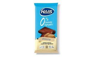 Chocolate con Almendras 0% Azúcar HAAS 70g en Tienda Inglesa